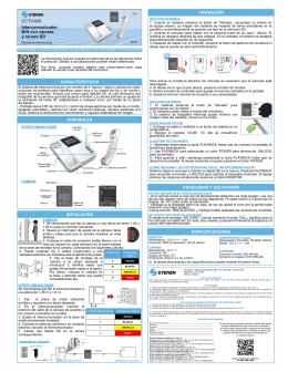 características instalación controles especificaciones operación