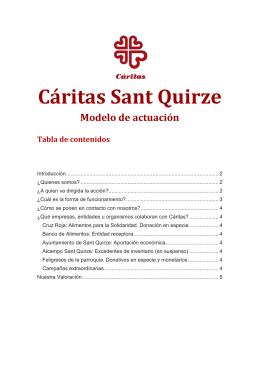 Cáritas Sant Quirze - Parròquia de Sant Quirze i Santa Julita
