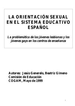 la orientación sexual en el sistema educativo español