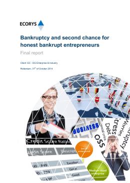Bankruptcy and second chance for honest bankrupt entrepreneurs