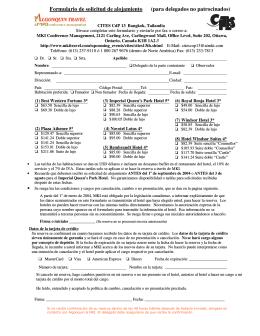 Formulario de solicitud de alojamiento (para delegados no