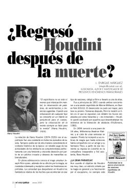 ¿Regresó Houdini después de la muerte?