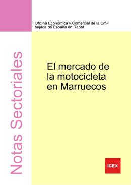 Mercado motocicleta en Marruecos