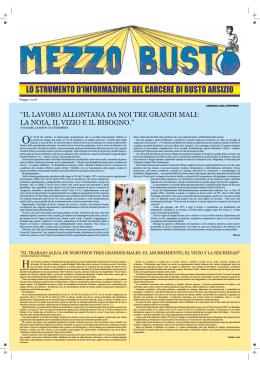LO STRUMENTO D`INFORMAZIONE DEL CARCERE DI BUSTO
