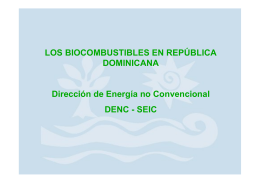 Marco Legal de los Biocombustibles