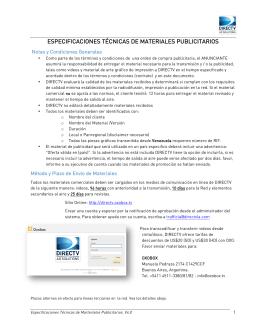 Documento de Especificaciones Técnicas V4.1