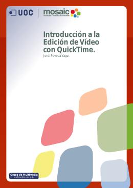 Introducción a la Edición de Vídeo con QuickTime.