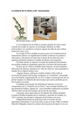 Historia de la célula y el microscopio