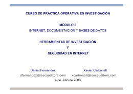 Introducción - Internet Security Auditors