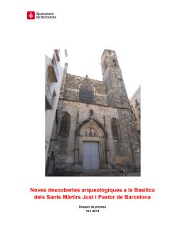 Noves descobertes arqueològiques a la Basílica dels Sants Màrtirs