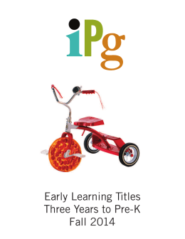 Fall 2014 early Learning 3-PreK