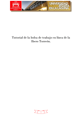Tutorial de la bolsa de trabajo en línea de la Ibero Torreón.