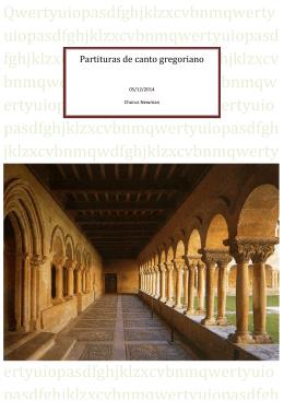 Partituras de canto gregoriano