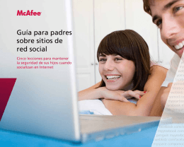 Guía para padres sobre sitios de red social