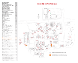 Insert Mapa.indd - Universidad de Puerto Rico, Recinto de Río Piedras