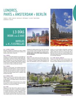Londres, París a Ámsterdam y Berlín