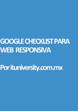 Google SEO Checklist para Web Responsivas