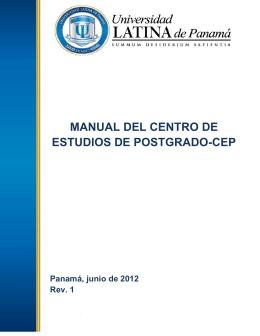 Manual del Centro de Estudios de Postgrado