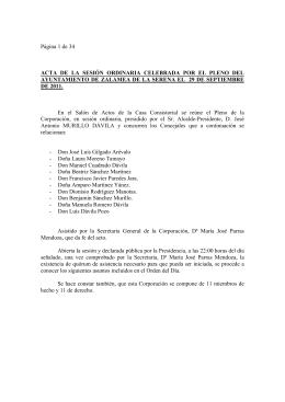 29 de Septiembre de 2011 - Ayuntamiento de Zalamea de la Serena