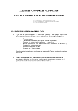 ALQUILER DE PLATAFORMA DE TELEFORMACIÓN