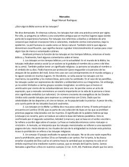Marcados Ángel Manuel Rodríguez ¿Dice algo la Biblia acerca de