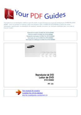 Manual de instruções SAMSUNG DVD
