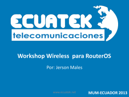 Workshop Wireless para RouterOS - MUM