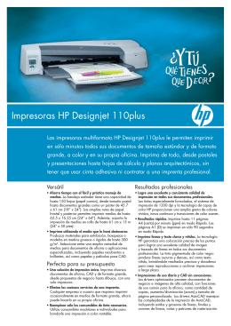 Impresoras HP Designjet 110plus