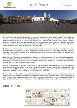 UBICACIÓN - Casa Gangotena