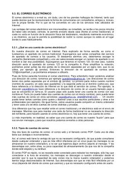 5.3. EL CORREO ELECTRÓNICO
