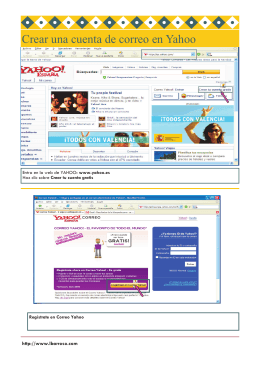 Crear una cuenta de correo en Yahoo