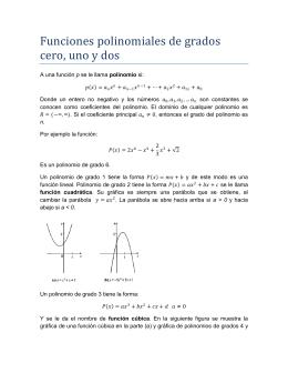 Funciones polinomiales de grados cero, uno y dos