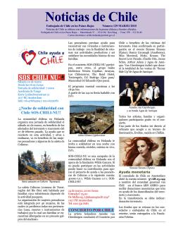 Noticias de Chile 129 - Chile en el Exterior