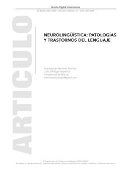patologías y trastornos del lenguaje