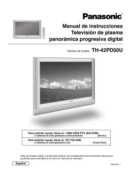 Manual de instrucciones Televisión de plasma