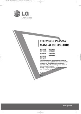 TELEVISOR PLASMA MANUAL DE USUARIO