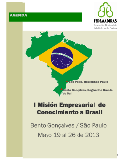 Agenda visita a Brasil mayo 2013