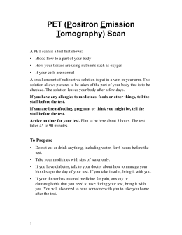 PET (Positron Emission Tomography) Scan - Spanish