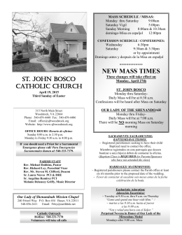 NEW MASS TIMES - WordPress.com