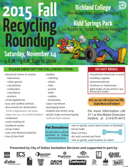 Recycling Round-Up