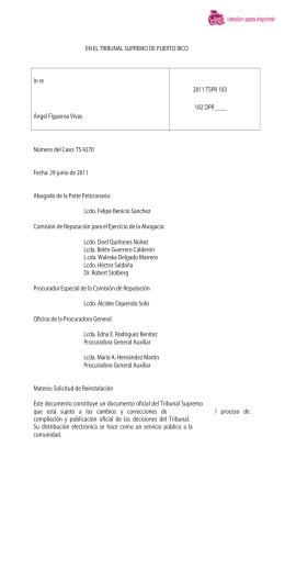 2011 TSPR 103 - Rama Judicial