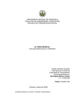 Tesis CO6 D6 - Saber UCV - Universidad Central de Venezuela