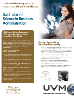 Flyer Dual Degree Walden University2012