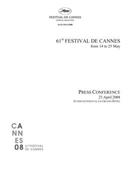 61 FESTIVAL DE CANNES