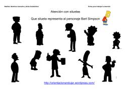 Atención juguemos a las siluetas con los Simpson