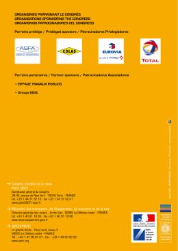 Congrès mondial de la route Paris 2007 > Ministère des