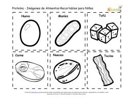 Proteína - Imágenes de Alimentos Recortables para Niños Maníes