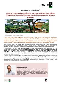 Altaïr invita a descubrir Japón de la mano de Jordi Juste, periodista