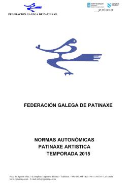 NORMAS AUTONOMICAS 2015 - Federación Galega de Patinaxe