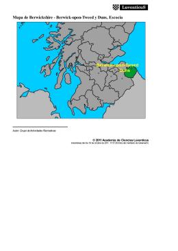 Mapa de Berwickshire - Berwick-upon-Tweed y Duns